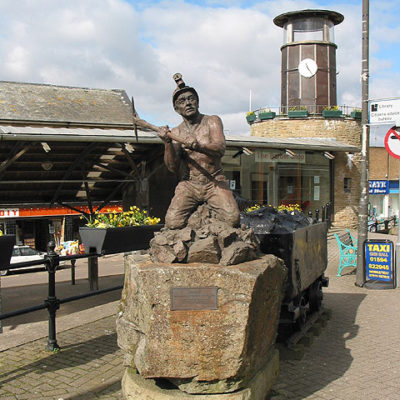 Miner Statue in Cinderford