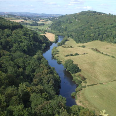 Bird eye view of the Forest of Dean